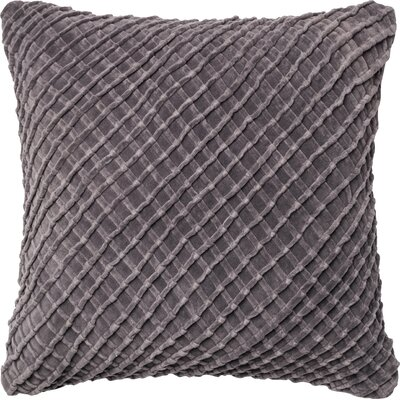 Potterville Throw Pillow Cover Color: Charcoal