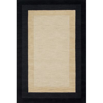 Hamilton Hand-Tufted Beige/Black Area Rug Rug Size: Rectangle 36 x 56