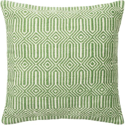 Throw Pillow Cover Color: Green/Ivory