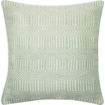 Throw Pillow Cover Color: Aqua/Ivory