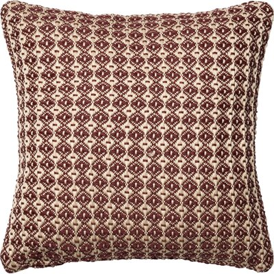 Throw Pillow Color: Brick/Beige