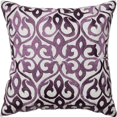 Throw Pillow Color: Gray/Plum