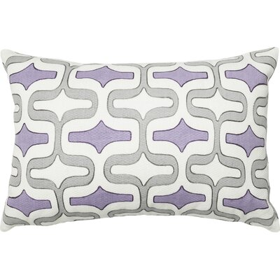 100% Cotton Pillow Cover Color: Gray/Plum