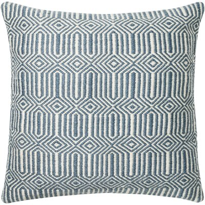 Throw Pillow Cover Color: Blue/Ivory