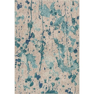 Summerfield Beige Indoor/Outdoor Area Rug Rug Size: Rectangle 92 x 121