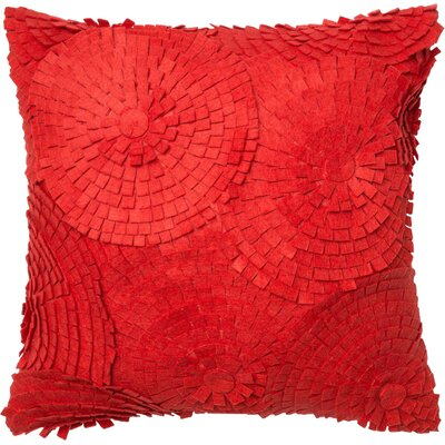 100% Cotton Throw Pillow Color: Red