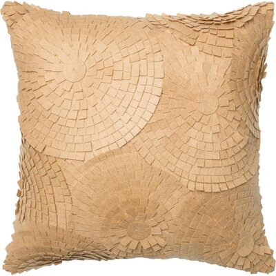 100% Cotton Throw Pillow Color: Sand
