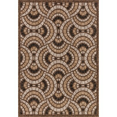 Newport Sand Indoor/Outdoor Area Rug Rug Size: 53 x 77