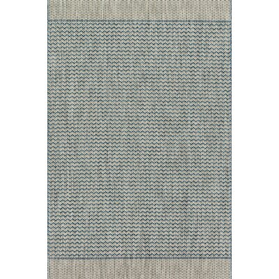 Isle Gray/Blue Indoor/Outdoor Area Rug Rug Size: 92 x 121