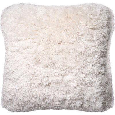 Outten Shag Throw Pillow Cover Color: Ivory