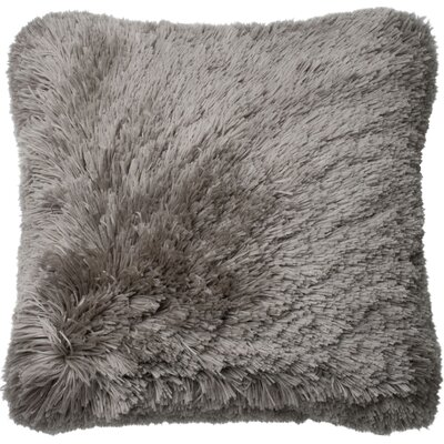 Ribbon Shag Throw Pillow Cover Color: Gray