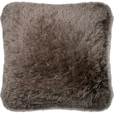 Outten Shag Throw Pillow Cover Color: Tan