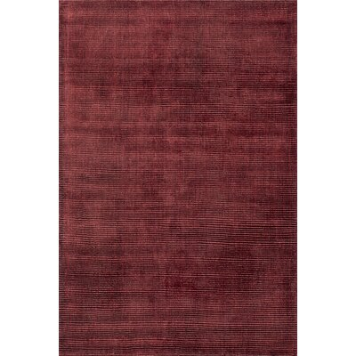 Luxe Hand-Woven Ruby Area Rug Rug Size: 5 x 76