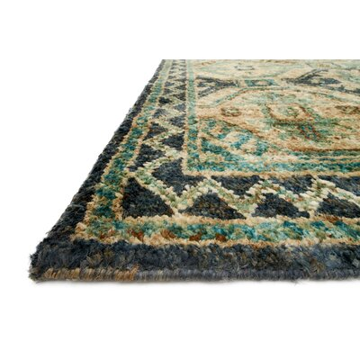 Zacarias Hand-Knotted Indigo Area Rug Rug Size: Rectangle 26 x 10