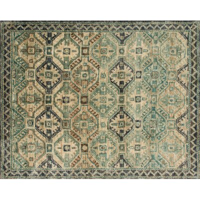 Nomad Hand-Knotted Indigo Area Rug Rug Size: Rectangle 96 x 136