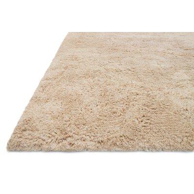 DeGennaro Hand-Tufted Sand Area Rug Rug Size: Round 710