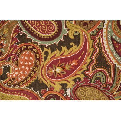 Keffer Hand-Hooked Brown/Red Area Rug Rug Size: Rectangle 36 x 56