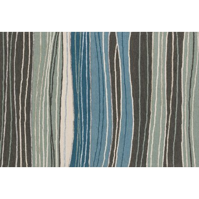 Kirkbride Gray/Blue Area Rug Rug Size: Rectangle 23 x 39