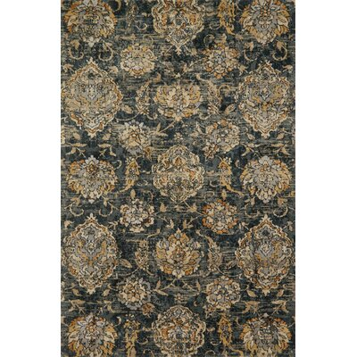 Gray/Beige Area Rug Rug Size: Rectangle 27 x 4