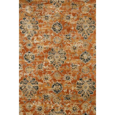 Rust Area Rug Rug Size: Rectangle 39 x 59