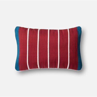 Indoor/Outdoor Lumbar Pillow Color: Red / Blue