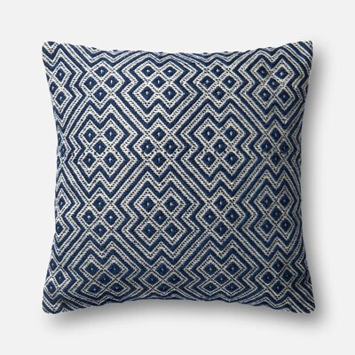 Indoor/Outdoor Throw Pillow Color: Navy