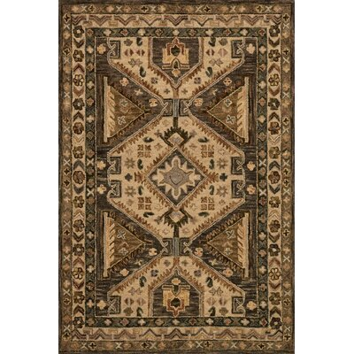 Watertown Walnut/Beige Area Rug Rug Size: 23 x 39