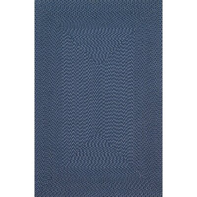 Wylie Hand-Woven Navy Indoor/Outdoor Area Rug Rug Size: 23 x 39