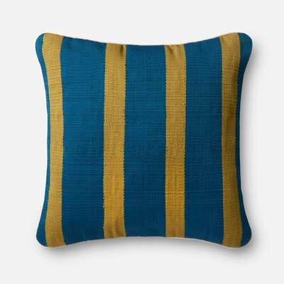 Dercho Outdoor Throw Pillow Color: Blue / Yellow