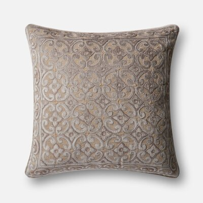 Throw Pillow Color: Brown / Beige
