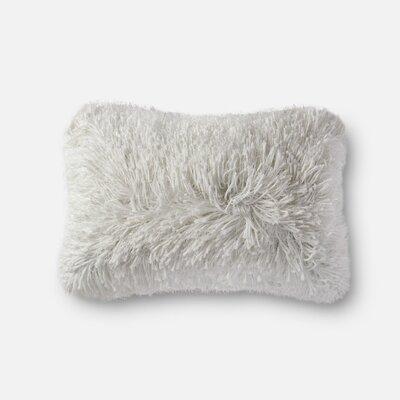 Ilford Shag Lumbar Pillow Color: White