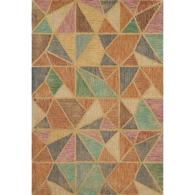 Gemology Hand-Tufted Brown/Green Area Rug Rug Size: Rectangle 36 x 56