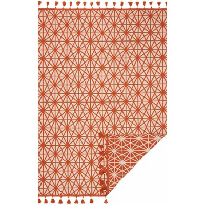 Kahelo Hand-Woven Orange Area Rug Rug Size: 23 x 39