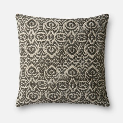 Indoor/Outdoor Throw Pillow Color: Gray / Beige