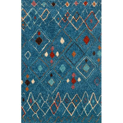 Zambrano Blue Area Rug Rug Size: Rectangle 36 x 56