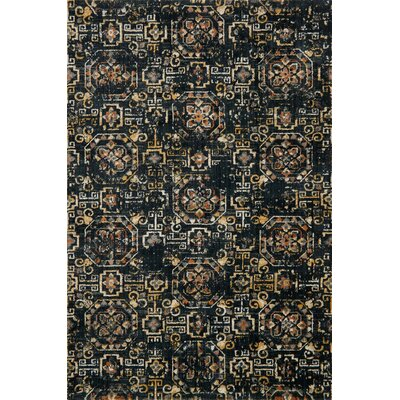 Black Area Rug Rug Size: Rectangle 67 x 92