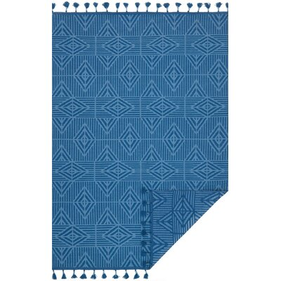 Pangburn Hand-Woven Blue Area Rug Rug Size: Rectangle 5 x 76