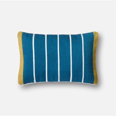 Indoor/Outdoor Lumbar Pillow Color: Blue / Yellow