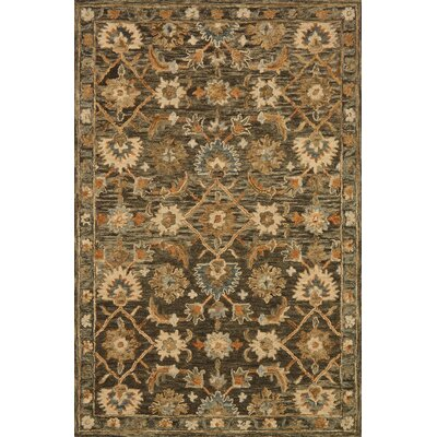 Watertown Hand-Hooked Taupe Area Rug Rug Size: 79 x 99