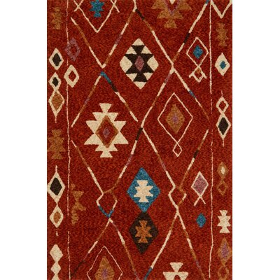 Zambrano Red Area Rug Rug Size: Rectangle 79 x 99
