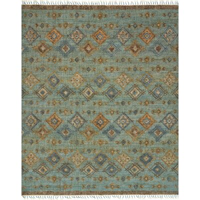 Bentonville Hand-Woven Blue Area Rug Rug Size: Rectangle 36 x 56