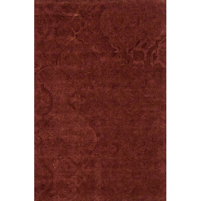 Filigree Hand-Tufted Red Area Rug Rug Size: 79 x 99