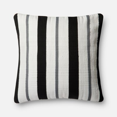 Indoor/Outdoor Throw Pillow Color: Black/Gray
