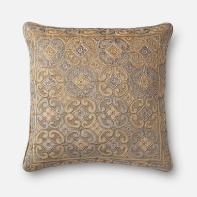 Linen/Cotton Throw Pillow Color: Brown / Yellow
