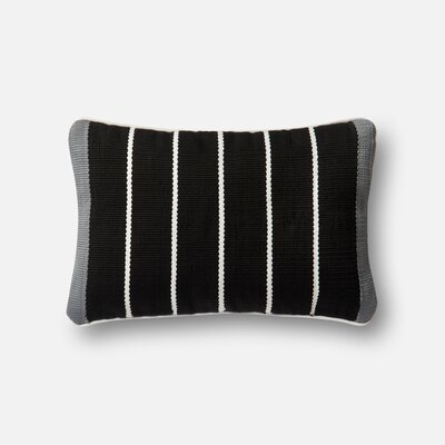 Indoor/Outdoor Lumbar Pillow Color: Black/Gray