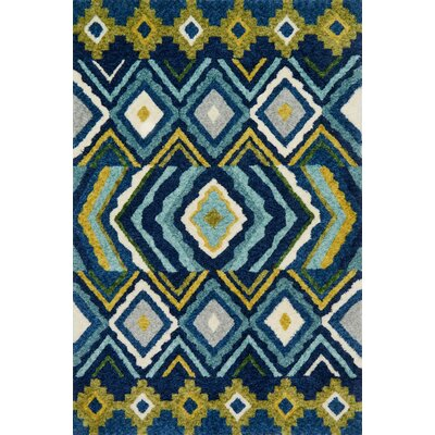 Zambrano Blue Area Rug Rug Size: Rectangle 79 x 99