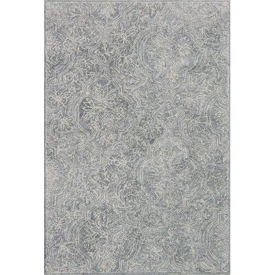 Filigree Hand-Tufted Silver Area Rug Rug Size: 79 x 99