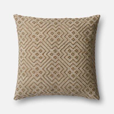 Indoor/Outdoor Throw Pillow Color: Brown