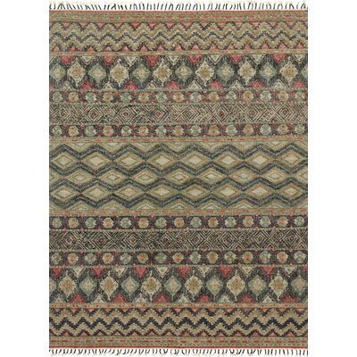 Bentonville Hand-Woven Brown/Green Area Rug Rug Size: Rectangle 36 x 56
