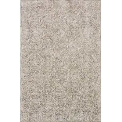 Filigree Hand-Tufted Beige Area Rug Rug Size: 36 x 56